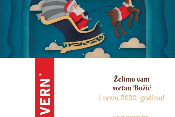 Sretan Božić i uspješna nova 2020. godina - VERN'